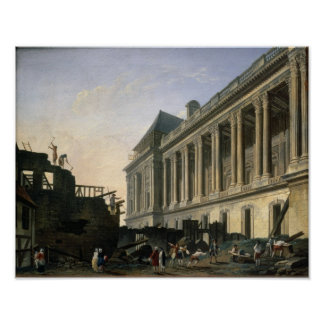 The Clearing of the Louvre colonnade, 1764 Poster