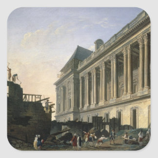 The Clearing of the Louvre colonnade, 1764 Square Sticker