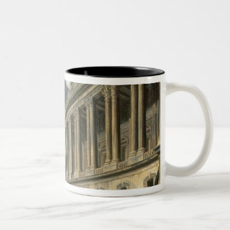 The Clearing of the Louvre colonnade, 1764 Two-Tone Coffee Mug