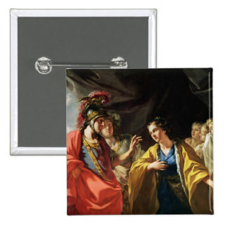 The Clemency of Alexander the Great 2 Inch Square Button