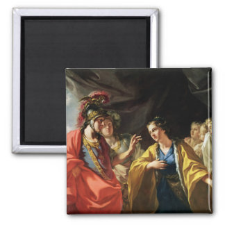 The Clemency of Alexander the Great 2 Inch Square Magnet