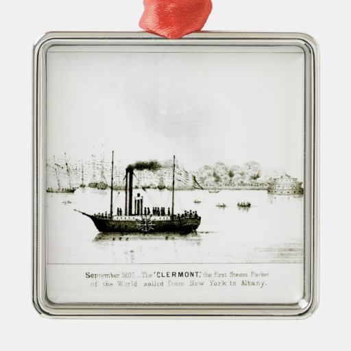The 'Clermont', the first Steam Packet Metal Ornament