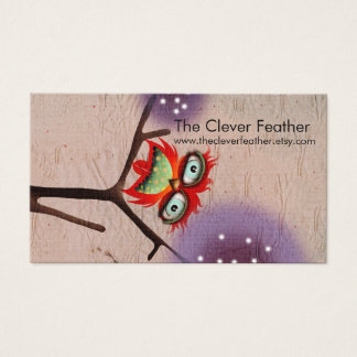 The Clever Feather ( Futura Typo ) Business Card