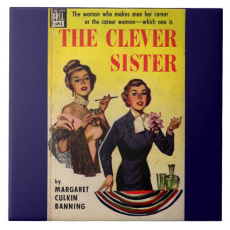 The Clever Sister 1950s pulp novel cover Ceramic Tile