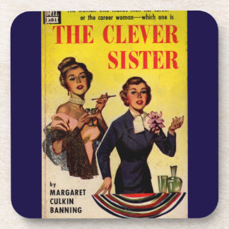 The Clever Sister 1950s pulp novel cover Coaster