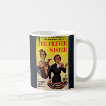 The Clever Sister 1950s pulp novel cover Coffee Mug
