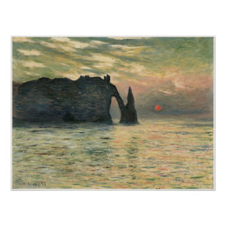 The Cliff at Etretat, 1883 Poster