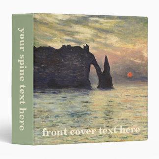 The Cliff Etretat, Sunset by Claude Monet 3 Ring Binder