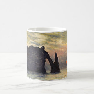 The Cliff Etretat, Sunset by Claude Monet Coffee Mug