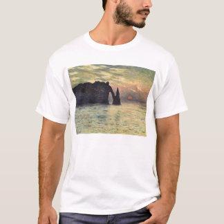 The Cliff Etretat, Sunset by Claude Monet T-Shirt