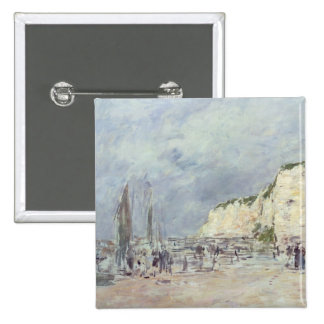The Cliffs at Dieppe and the 'Petit Paris' 2 Inch Square Button