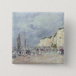 The Cliffs at Dieppe and the 'Petit Paris' Pinback Button
