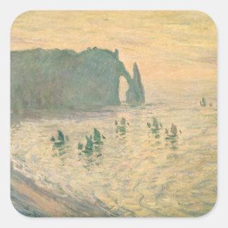 The Cliffs at Etretat, 1886 Square Stickers