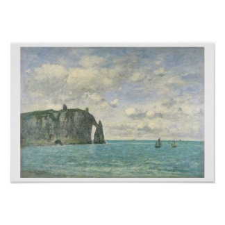 The Cliffs at Etretat, 1890 (oil on canvas) Poster