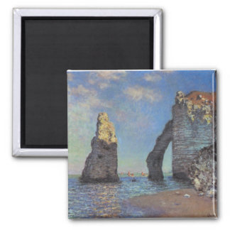 The Cliffs at Etretat 2 Inch Square Magnet