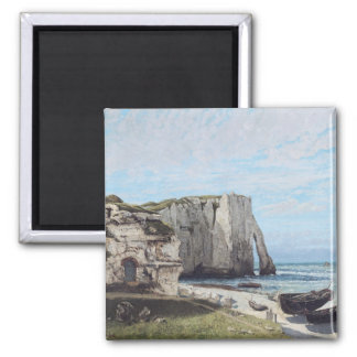 The Cliffs at Etretat after the storm, 1870 2 Inch Square Magnet