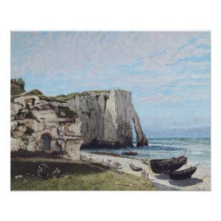 The Cliffs at Etretat after the storm, 1870 Poster