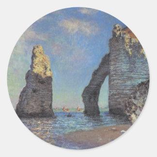 The Cliffs at Etretat Classic Round Sticker