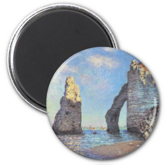 The Cliffs at Etretat - Claude Monet 2 Inch Round Magnet