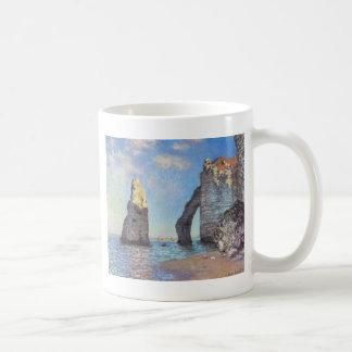 The Cliffs at Etretat - Claude Monet Classic White Coffee Mug