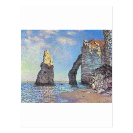 The Cliffs at Etretat - Claude Monet Postcard