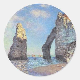 The Cliffs at Etretat - Claude Monet Stickers