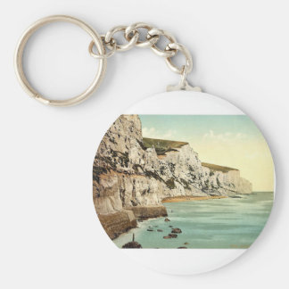 The Cliffs, Dover, England classic Photochrom Keychain