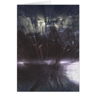 the cliffs of insanity at the mountains of madness greeting card