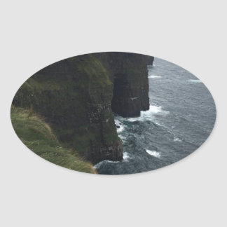 The Cliffs of Moher Oval Sticker
