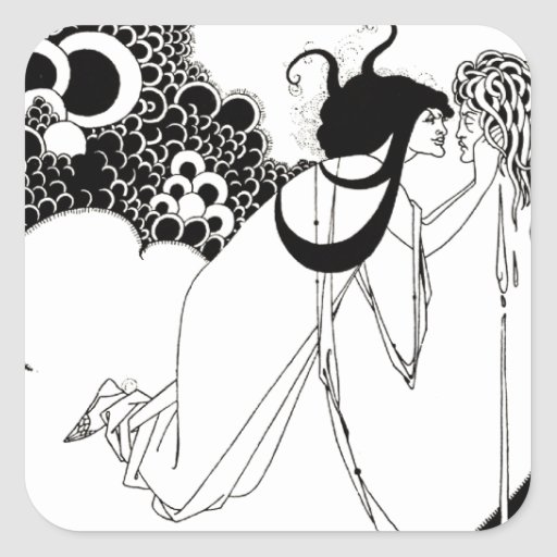The Climax - French Art Nouveau Square Sticker