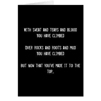 The Climb Funny Birthday Greeting Card