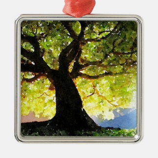 The Climbing Tree Metal Ornament
