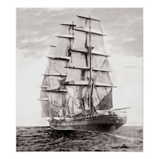 """The Clipper """"Cutty Sark"""" 1869 Poster"""