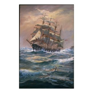 The Clipper 'Placilla' Round - Framed Print print