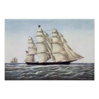 The Clipper Ship Flying Cloud Poster