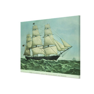 The Clipper ship 'Highflyer', 1111 tons Canvas Print