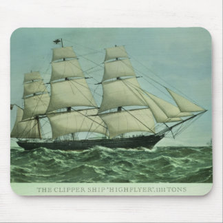 The Clipper ship 'Highflyer', 1111 tons Mouse Pad