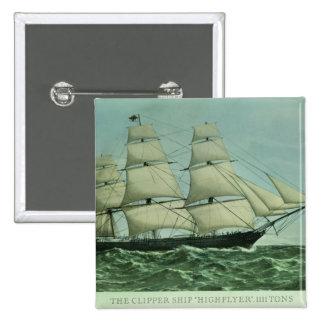 The Clipper ship 'Highflyer', 1111 tons Pinback Button