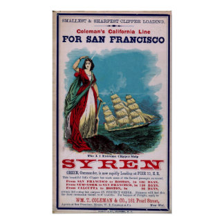 The Clipper Ship - Syren Poster