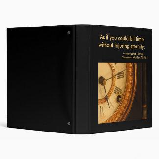 The clock... 3 ring binder