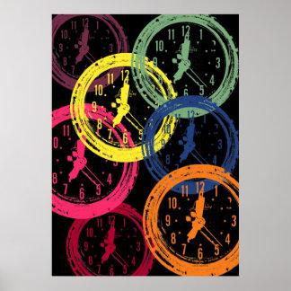 the clock - dark poster