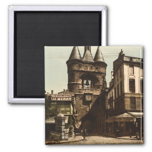 The Clock Gate, Bordeaux, France Magnets