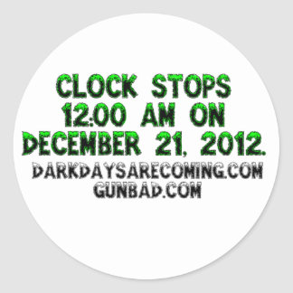 The Clock stops Stickers