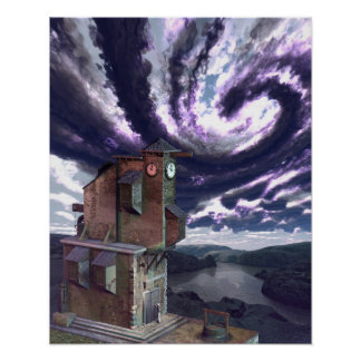 "The Clock-Tower (16"" x 20"") Art Print Poster"