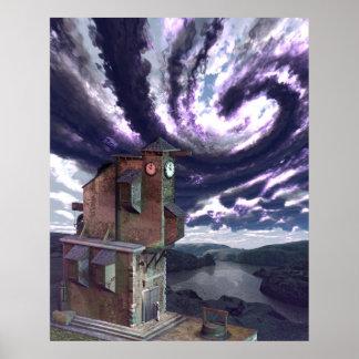 "The Clock-Tower (24"" x 30"") Art Print Poster"