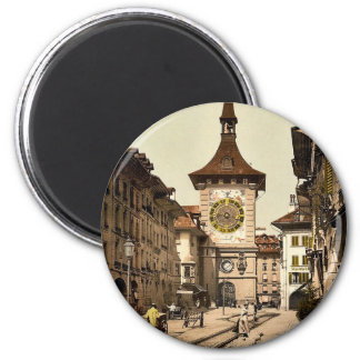The clock tower, Berne, Town, Switzerland vintage Magnet
