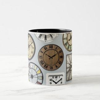 """THE CLOCK WATCHER'S"" MUG-OR 5 O'CLOCK SOMEWHERE Two-Tone COFFEE MUG"