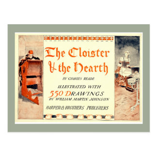 The Cloister and the Hearth Book Cover Postcard