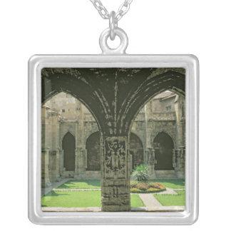 The Cloister Garden Square Pendant Necklace