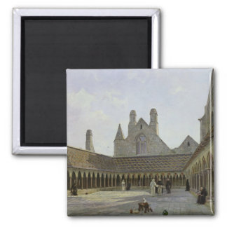 The Cloister of Mont Saint-Michel 2 Inch Square Magnet